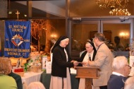Donating funds to Sr. Lucy of Notre Dame Convalescent Home